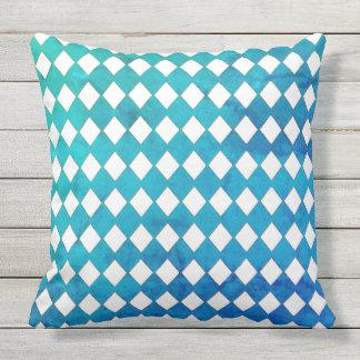 Diamond-Poolside-Outside-Fabric(c) Multi_Use Throw Pillow
