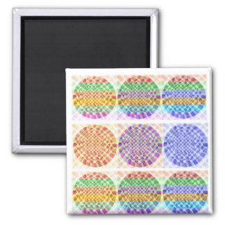 Diamond Power Balls Square Magnet