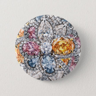 Diamond Puakenikeni Broach 2 Inch Round Button