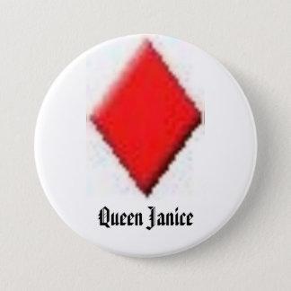 diamond, Queen Janice 3 Inch Round Button