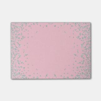 Diamond Rhinestone Jewel Pink Post-it Notes
