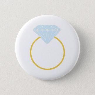 Diamond Ring 2 Inch Round Button