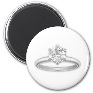 Diamond Ring Bling Clipart Graphic 2 Inch Round Magnet