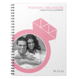 Diamond Ring Custom Photo Wedding Organizer Notebooks