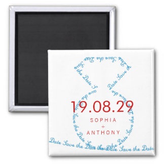 Diamond Ring Loop Save The Date Wedding Magnet