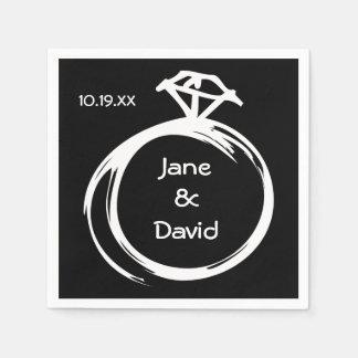 Diamond Ring Paper Napkin