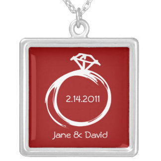 Diamond Ring Personalized Necklace