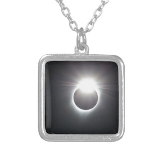 Diamond Ring Silver Plated Necklace