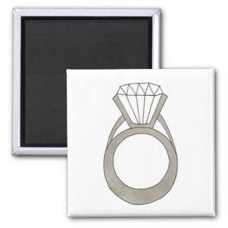 Diamond Ring Wedding Bride Bridal Shower Magnet