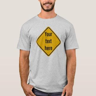 Diamond Road Sign Template T-Shirt