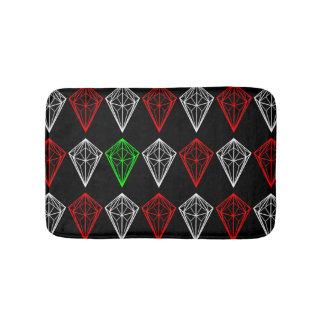 Diamond, Ruby and Sapphire Pattern Bath Mat