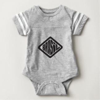 diamond shape Brasil retro logo Baby Bodysuit