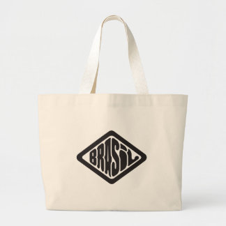 diamond shape Brasil retro logo Large Tote Bag