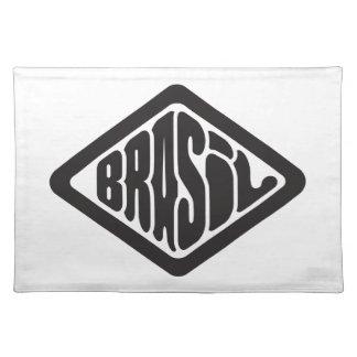 diamond shape Brasil retro logo Placemat