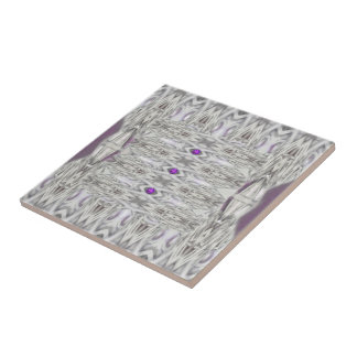 Diamond Shapes in Black and White with Purple Tile
