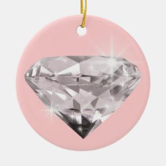 Diamond  shine adorn ceramic ornament