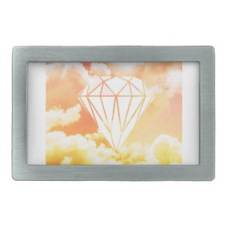 Diamond Sky Rectangular Belt Buckle