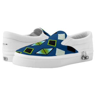 DIAMOND SLIP ONS, i Art and Designs Slip-On Sneakers