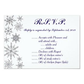 Diamond Snowflakes R.S.V.P. Card
