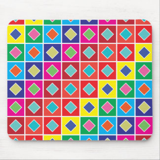 diamond square color swatches mouse pad