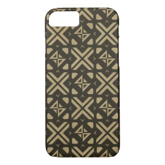 Diamond square modern tribal print Gold iPhone 7 Case