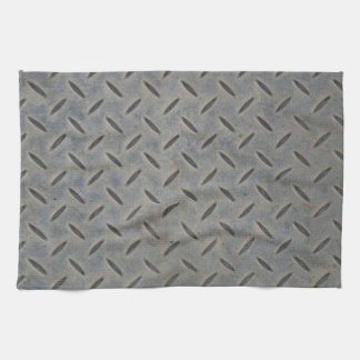 Diamond steel background kitchen towel