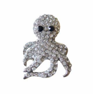 Diamond-Studded Octopus Ornament Photo Sculpture Ornament