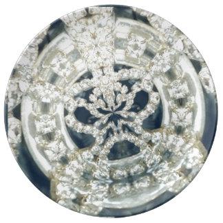 Diamond studded plate