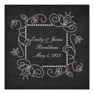 Diamond Studded Vow Renewal Card