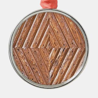 Diamond texture metal ornament