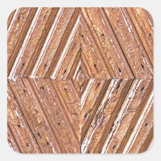 Diamond texture square sticker