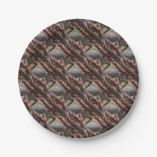 Diamond trees paper plate