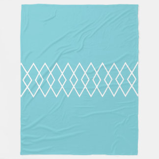 Diamond Trellis on Coastal Blue Fleece Blanket