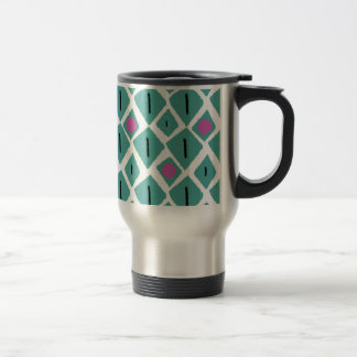 Diamond Turquoise with Pink Circles Pattern Mugs