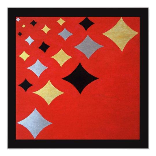 Diamond wall art - red