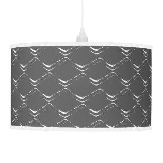 Diamond Wave Black & White Pendant Lamp