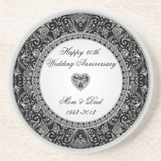 Diamond Wedding Anniversary Coaster