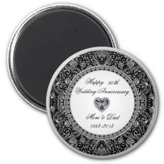 Diamond Wedding Anniversary Magnet