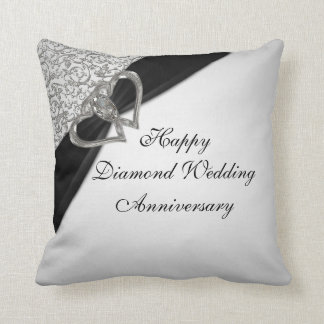Diamond Wedding Anniversary Throw Pillow