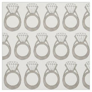 Diamond Wedding Engagement Ring Bride Fabric