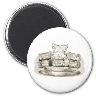 Diamond Wedding Engagement Ring Hint Hint 2 Inch Round Magnet