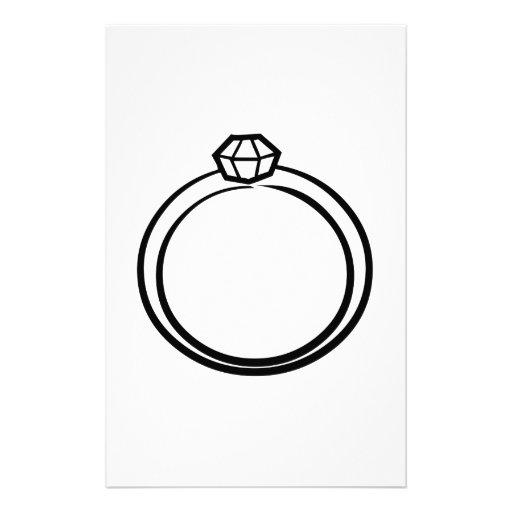 Diamond Wedding Ring Stationery Design