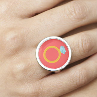 Diamond Wedding Ring Vector Graphic Ring