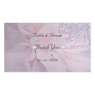 Diamond Wedding Thank You Favor Tag Business Card