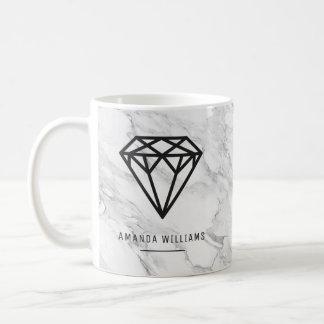 Diamond with Marble Coffee Mug