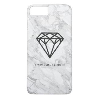 Diamond with Marble iPhone 8 Plus/7 Plus Case