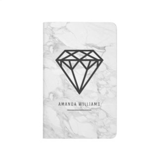 Diamond with Marble Journal