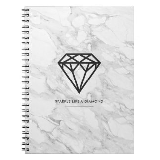 Diamond with Marble Notebook