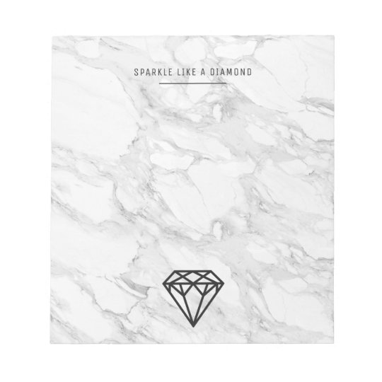 Diamond with Marble Notepad