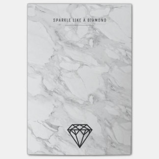Diamond with Marble Post-it® Notes